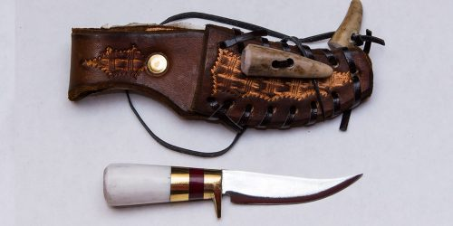 Miniature Hunter Knife with Scabbard